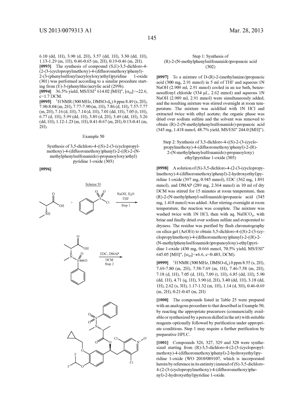 DERIVATIVES OF 1-PHENYL-2-PYRIDINYL ALKYL ALCOHOLS AS PHOSPHODIESTERASE     INHIBITORS - diagram, schematic, and image 146