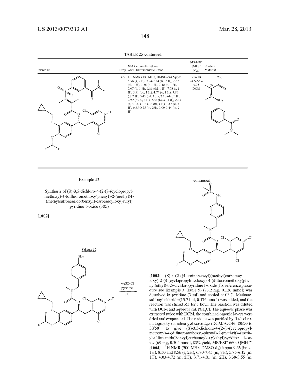 DERIVATIVES OF 1-PHENYL-2-PYRIDINYL ALKYL ALCOHOLS AS PHOSPHODIESTERASE     INHIBITORS - diagram, schematic, and image 149