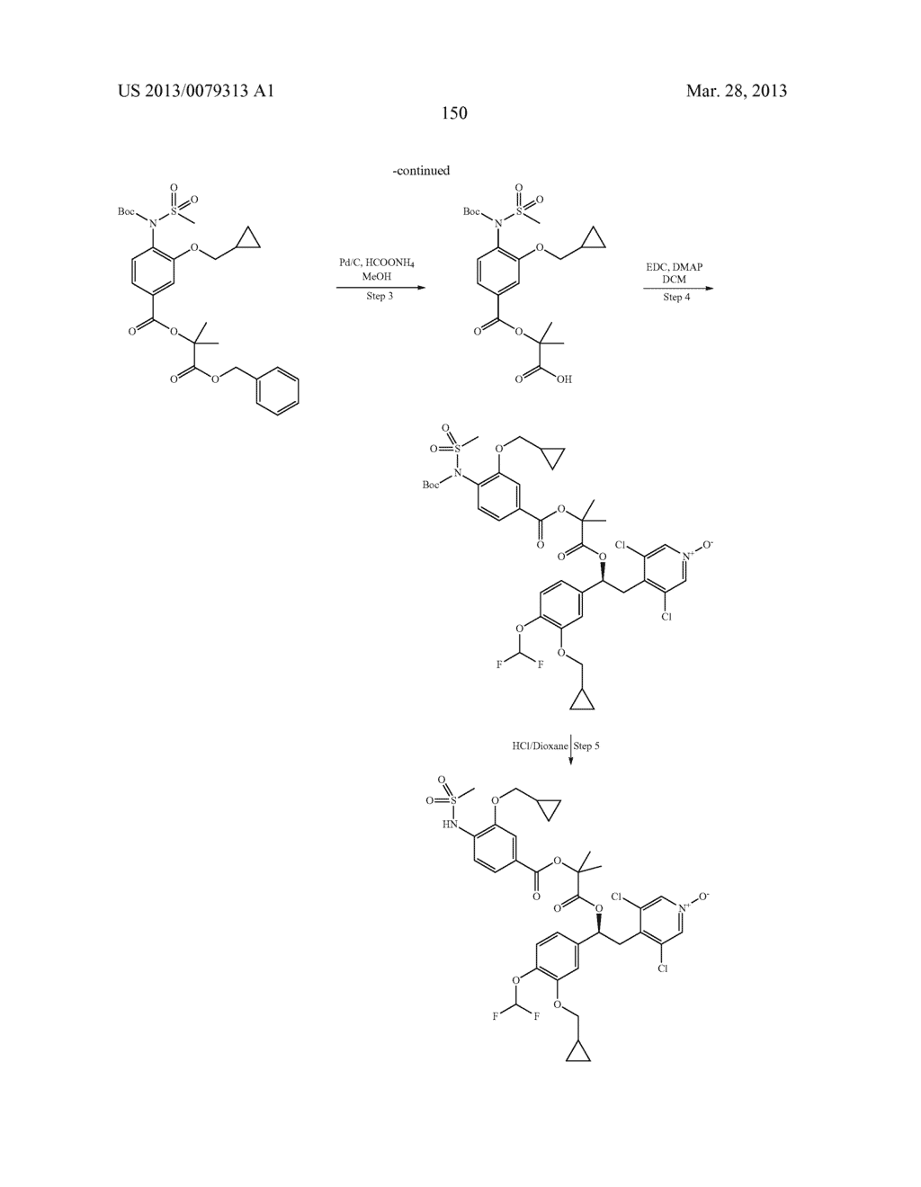 DERIVATIVES OF 1-PHENYL-2-PYRIDINYL ALKYL ALCOHOLS AS PHOSPHODIESTERASE     INHIBITORS - diagram, schematic, and image 151