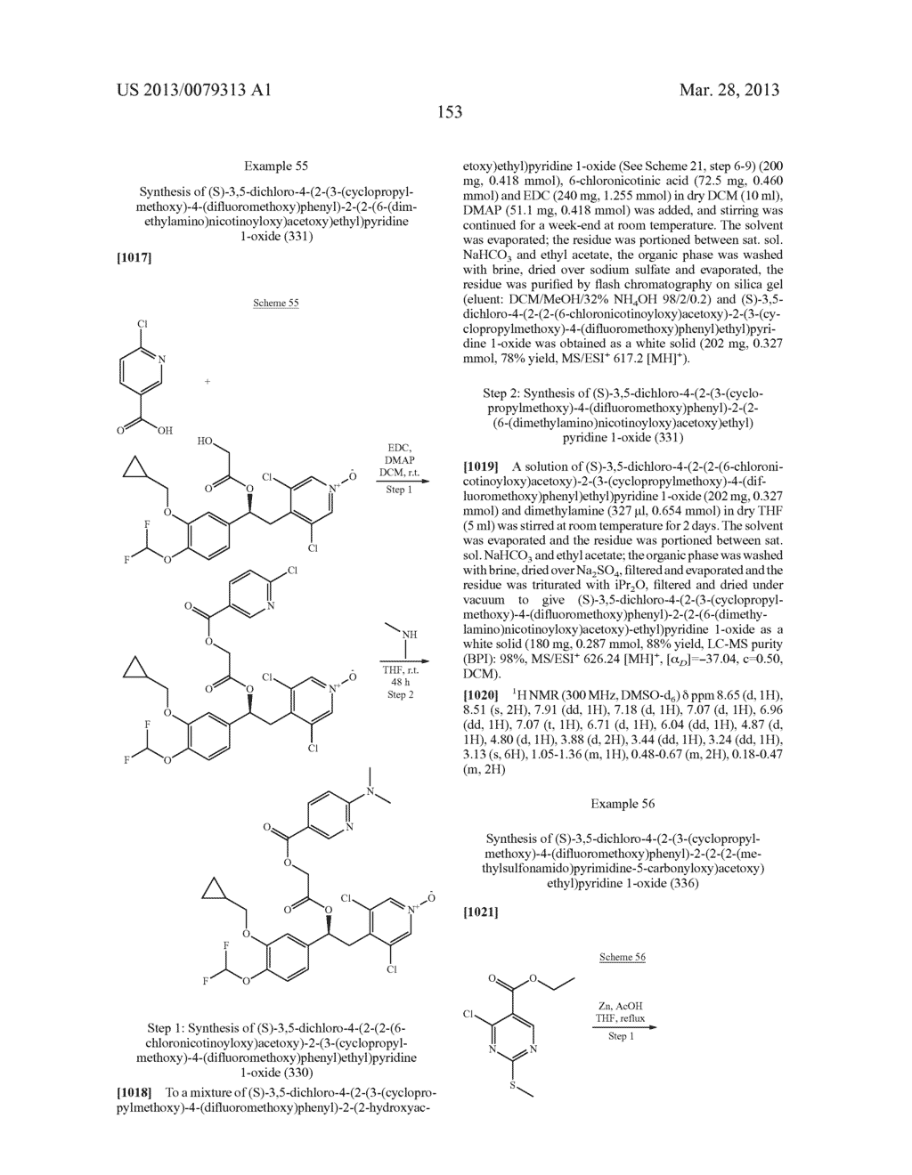 DERIVATIVES OF 1-PHENYL-2-PYRIDINYL ALKYL ALCOHOLS AS PHOSPHODIESTERASE     INHIBITORS - diagram, schematic, and image 154