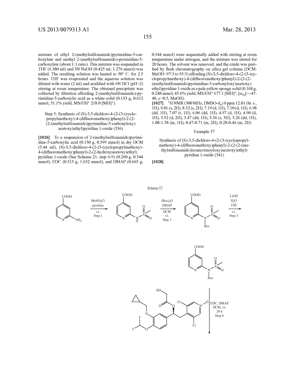 DERIVATIVES OF 1-PHENYL-2-PYRIDINYL ALKYL ALCOHOLS AS PHOSPHODIESTERASE     INHIBITORS - diagram, schematic, and image 156