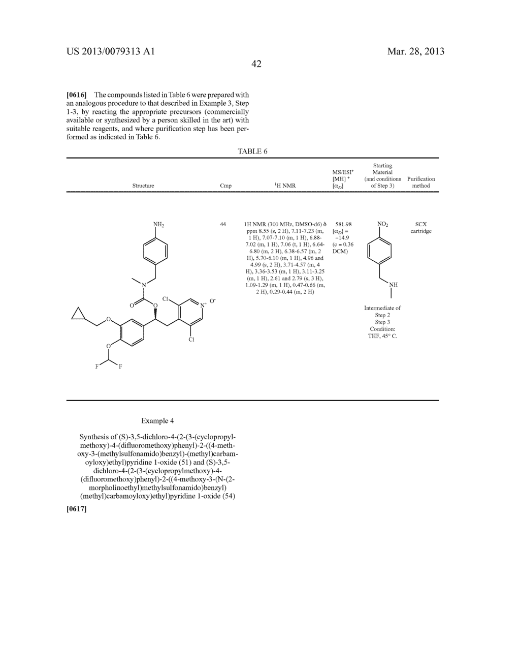 DERIVATIVES OF 1-PHENYL-2-PYRIDINYL ALKYL ALCOHOLS AS PHOSPHODIESTERASE     INHIBITORS - diagram, schematic, and image 43