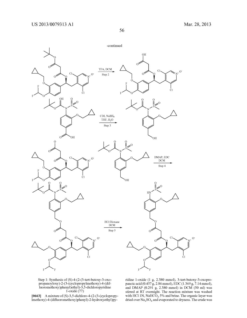 DERIVATIVES OF 1-PHENYL-2-PYRIDINYL ALKYL ALCOHOLS AS PHOSPHODIESTERASE     INHIBITORS - diagram, schematic, and image 57