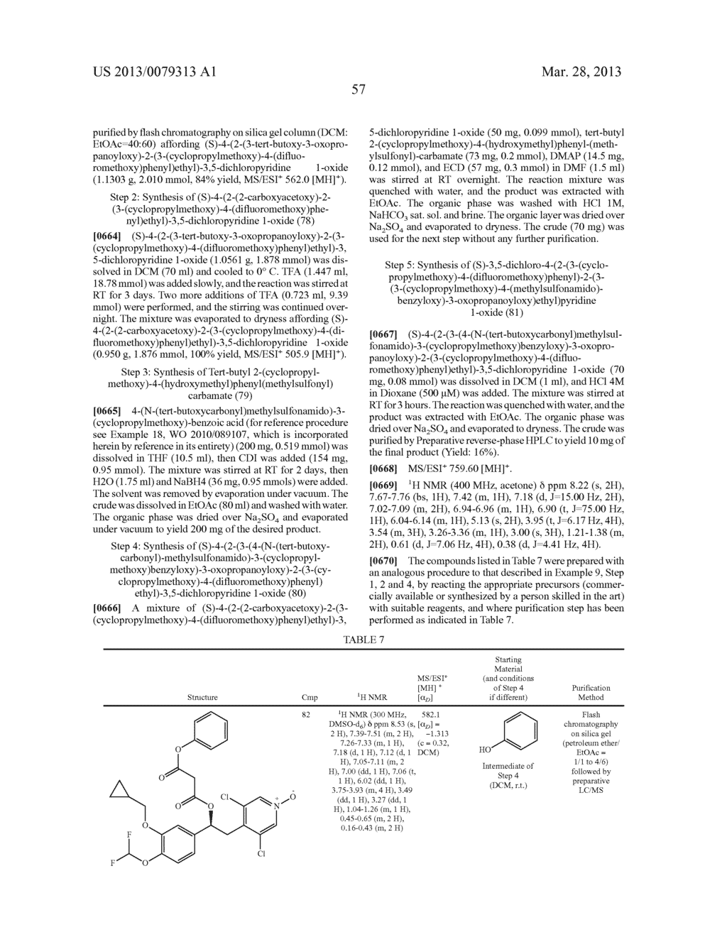 DERIVATIVES OF 1-PHENYL-2-PYRIDINYL ALKYL ALCOHOLS AS PHOSPHODIESTERASE     INHIBITORS - diagram, schematic, and image 58