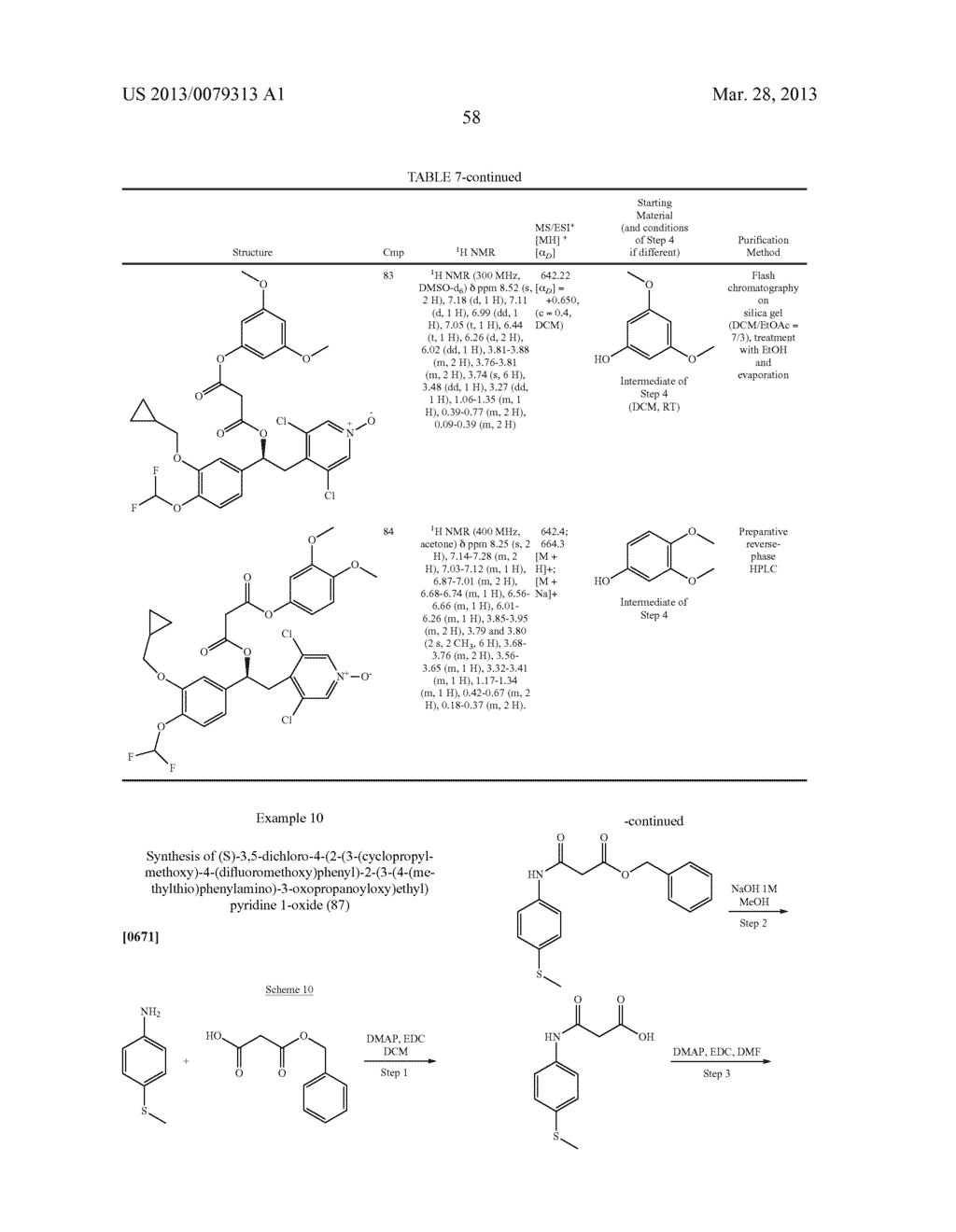 DERIVATIVES OF 1-PHENYL-2-PYRIDINYL ALKYL ALCOHOLS AS PHOSPHODIESTERASE     INHIBITORS - diagram, schematic, and image 59