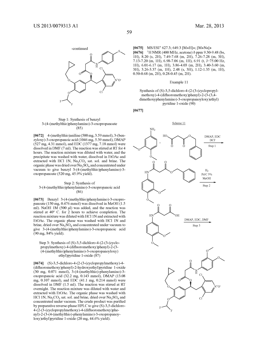 DERIVATIVES OF 1-PHENYL-2-PYRIDINYL ALKYL ALCOHOLS AS PHOSPHODIESTERASE     INHIBITORS - diagram, schematic, and image 60