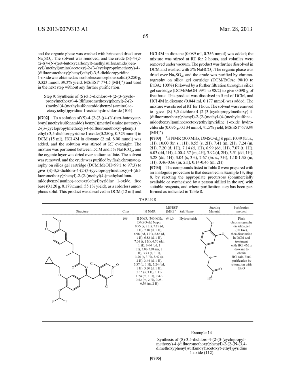 DERIVATIVES OF 1-PHENYL-2-PYRIDINYL ALKYL ALCOHOLS AS PHOSPHODIESTERASE     INHIBITORS - diagram, schematic, and image 66