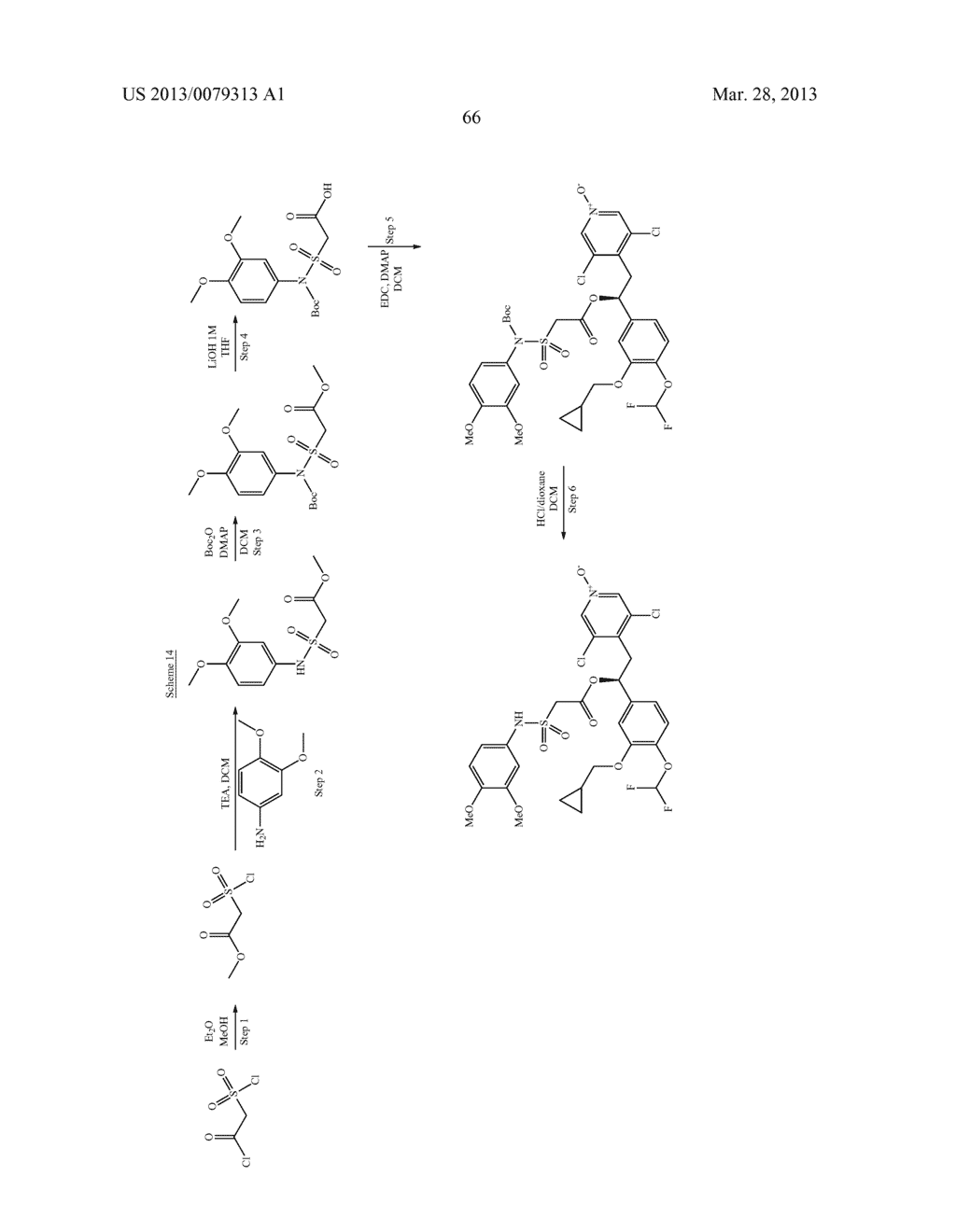 DERIVATIVES OF 1-PHENYL-2-PYRIDINYL ALKYL ALCOHOLS AS PHOSPHODIESTERASE     INHIBITORS - diagram, schematic, and image 67