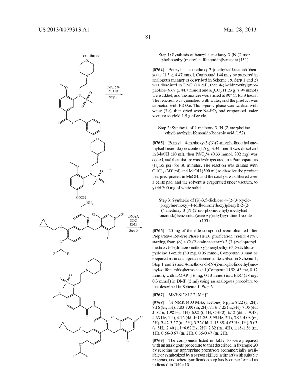 DERIVATIVES OF 1-PHENYL-2-PYRIDINYL ALKYL ALCOHOLS AS PHOSPHODIESTERASE     INHIBITORS - diagram, schematic, and image 82
