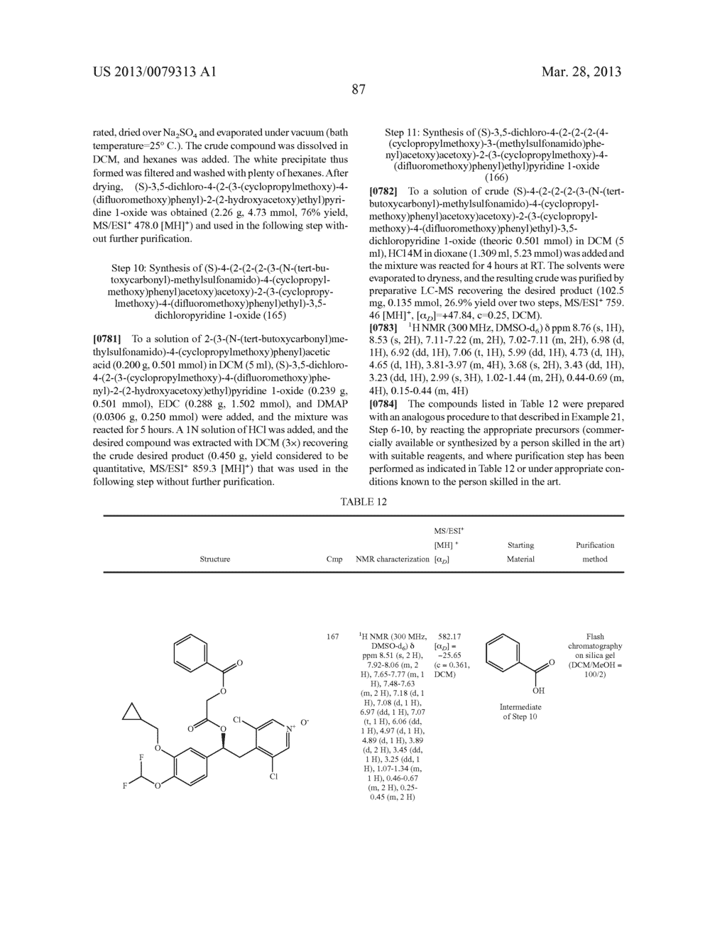 DERIVATIVES OF 1-PHENYL-2-PYRIDINYL ALKYL ALCOHOLS AS PHOSPHODIESTERASE     INHIBITORS - diagram, schematic, and image 88