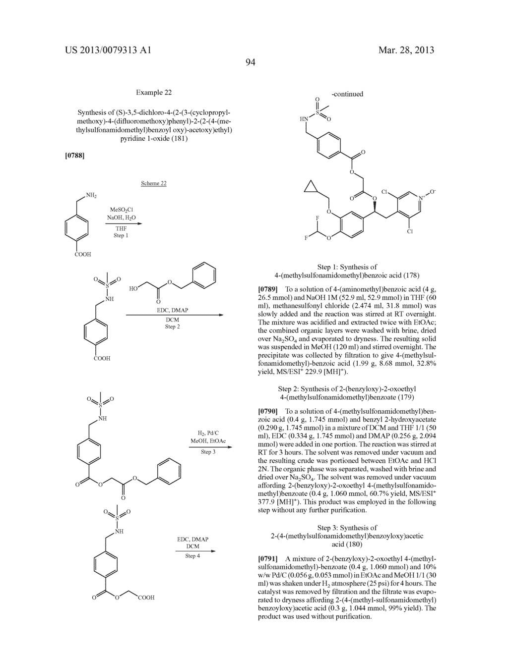 DERIVATIVES OF 1-PHENYL-2-PYRIDINYL ALKYL ALCOHOLS AS PHOSPHODIESTERASE     INHIBITORS - diagram, schematic, and image 95