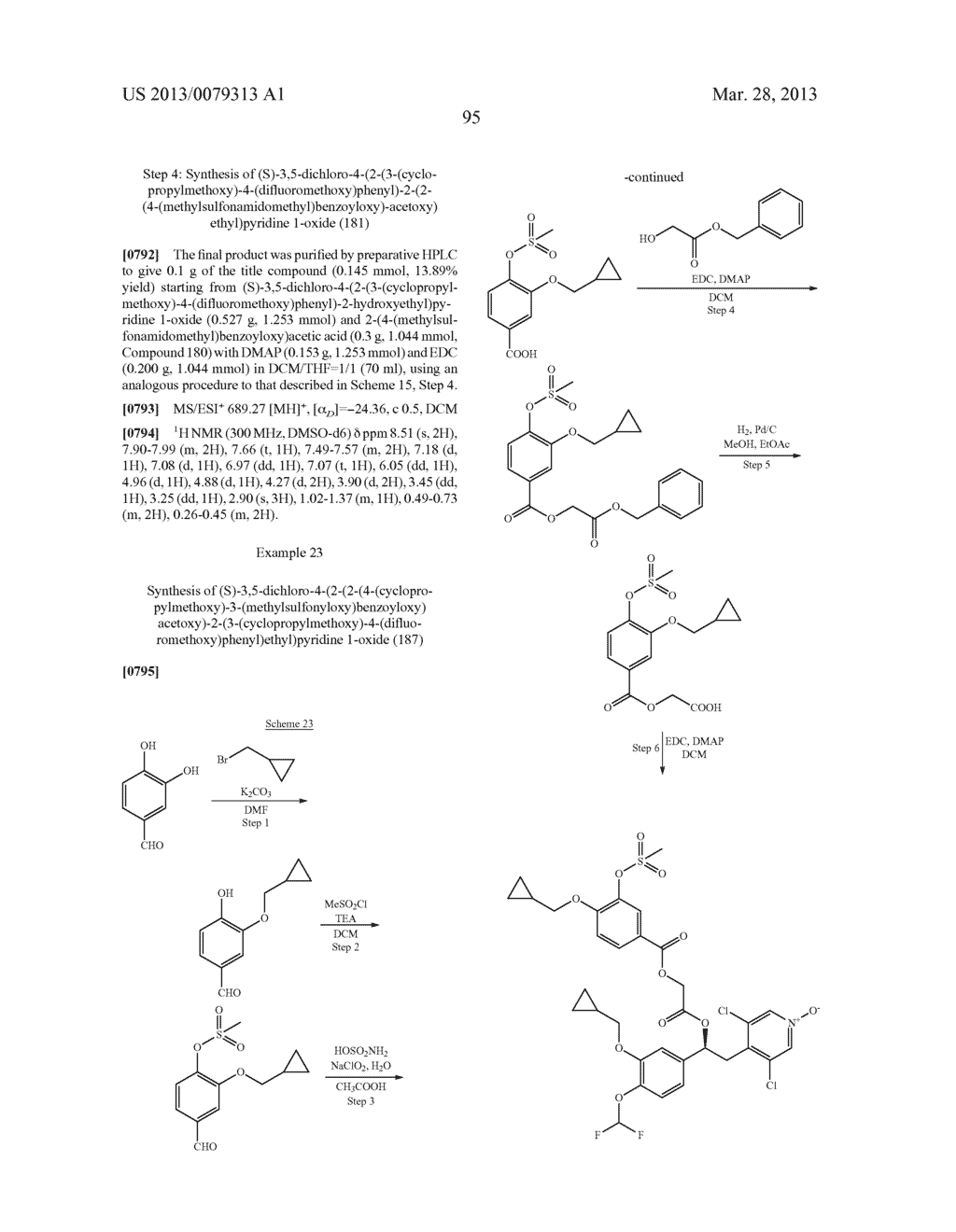 DERIVATIVES OF 1-PHENYL-2-PYRIDINYL ALKYL ALCOHOLS AS PHOSPHODIESTERASE     INHIBITORS - diagram, schematic, and image 96
