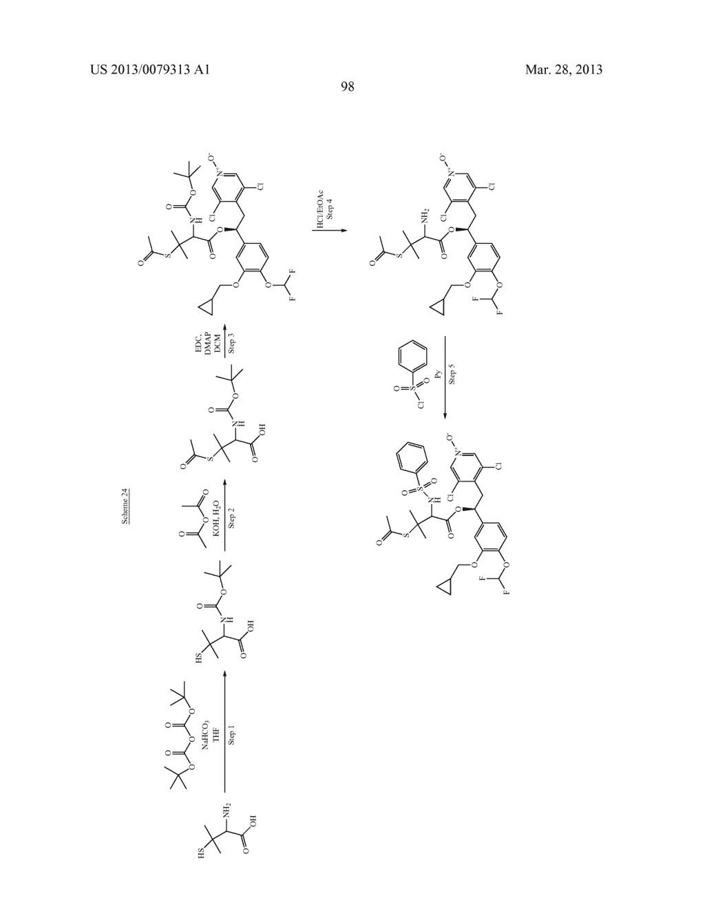 DERIVATIVES OF 1-PHENYL-2-PYRIDINYL ALKYL ALCOHOLS AS PHOSPHODIESTERASE     INHIBITORS - diagram, schematic, and image 99