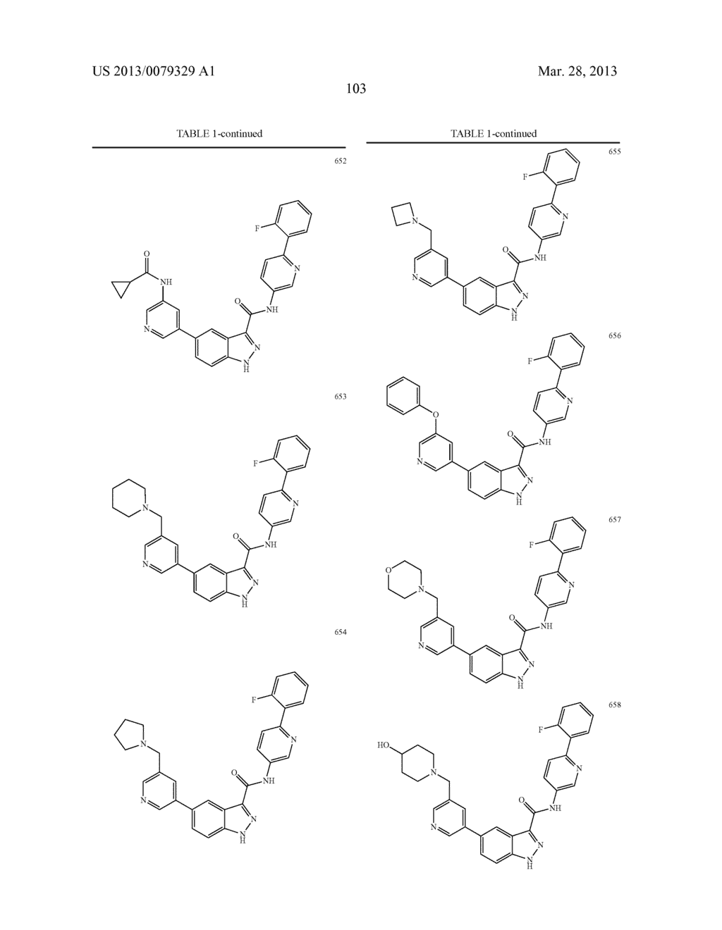 INDAZOLE-3-CARBOXAMIDES AND THEIR USE AS WNT/Beta-CATENIN SIGNALING     PATHWAY INHIBITORS - diagram, schematic, and image 104
