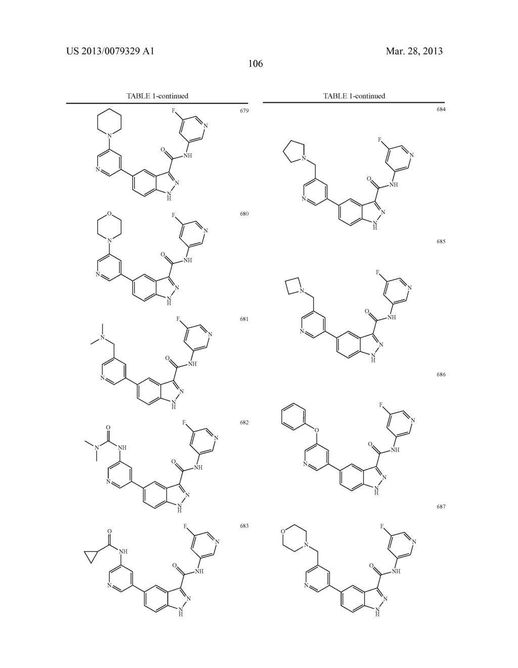 INDAZOLE-3-CARBOXAMIDES AND THEIR USE AS WNT/Beta-CATENIN SIGNALING     PATHWAY INHIBITORS - diagram, schematic, and image 107