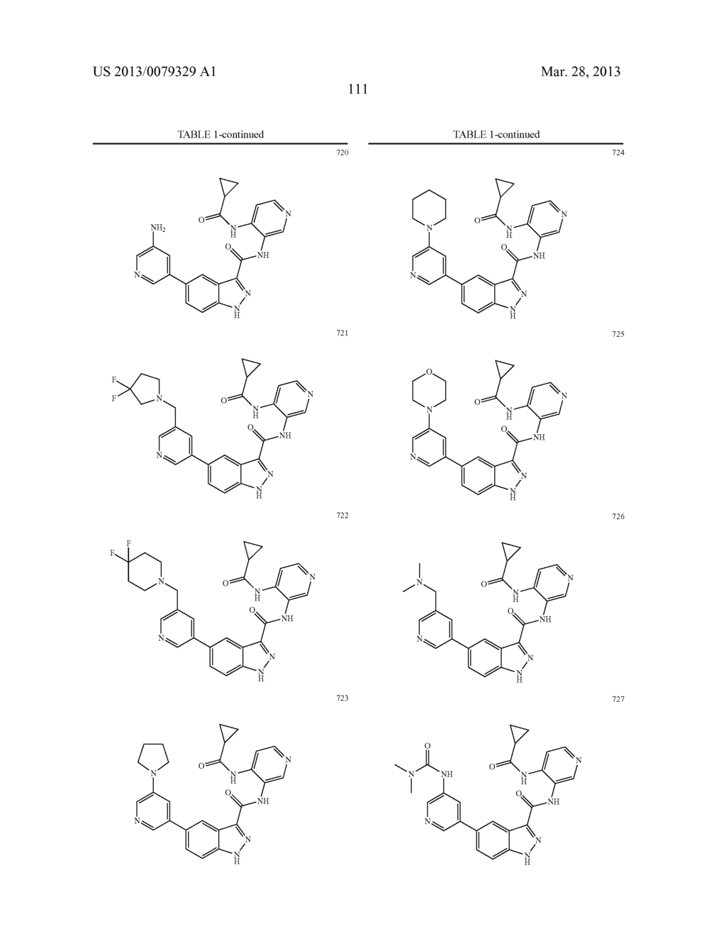 INDAZOLE-3-CARBOXAMIDES AND THEIR USE AS WNT/Beta-CATENIN SIGNALING     PATHWAY INHIBITORS - diagram, schematic, and image 112