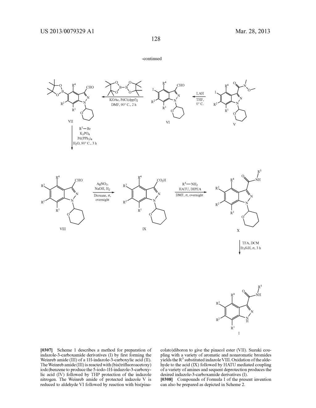 INDAZOLE-3-CARBOXAMIDES AND THEIR USE AS WNT/Beta-CATENIN SIGNALING     PATHWAY INHIBITORS - diagram, schematic, and image 129