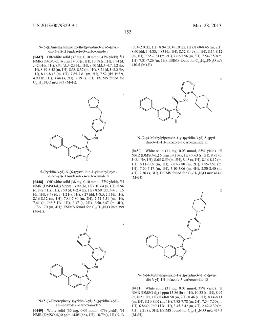 INDAZOLE-3-CARBOXAMIDES AND THEIR USE AS WNT/Beta-CATENIN SIGNALING     PATHWAY INHIBITORS - diagram, schematic, and image 154