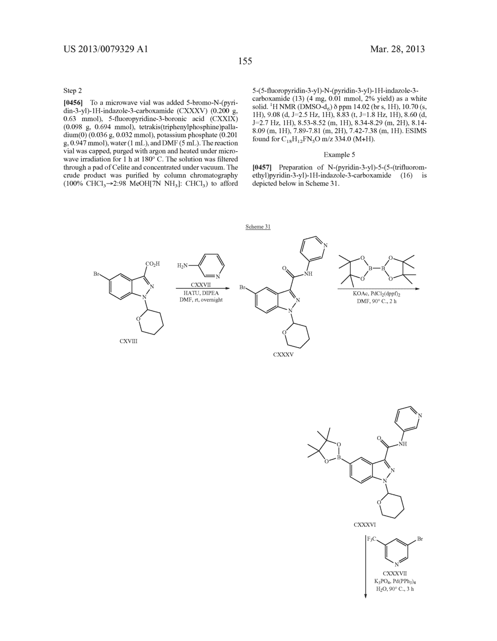 INDAZOLE-3-CARBOXAMIDES AND THEIR USE AS WNT/Beta-CATENIN SIGNALING     PATHWAY INHIBITORS - diagram, schematic, and image 156