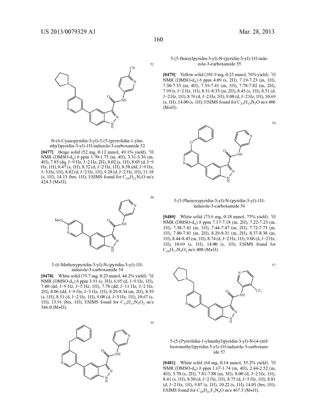 INDAZOLE-3-CARBOXAMIDES AND THEIR USE AS WNT/Beta-CATENIN SIGNALING     PATHWAY INHIBITORS - diagram, schematic, and image 161