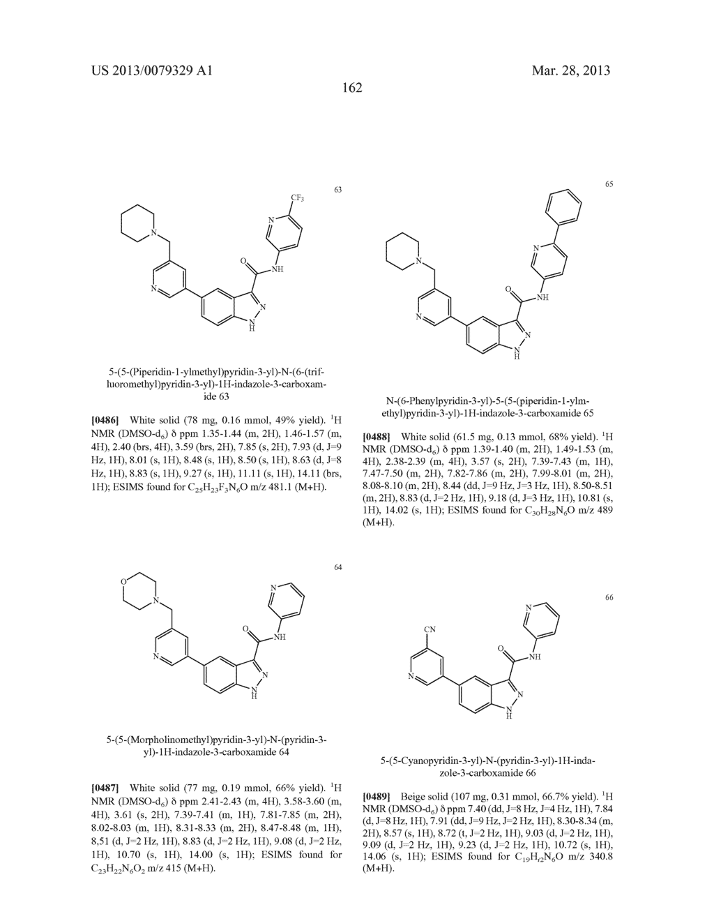 INDAZOLE-3-CARBOXAMIDES AND THEIR USE AS WNT/Beta-CATENIN SIGNALING     PATHWAY INHIBITORS - diagram, schematic, and image 163