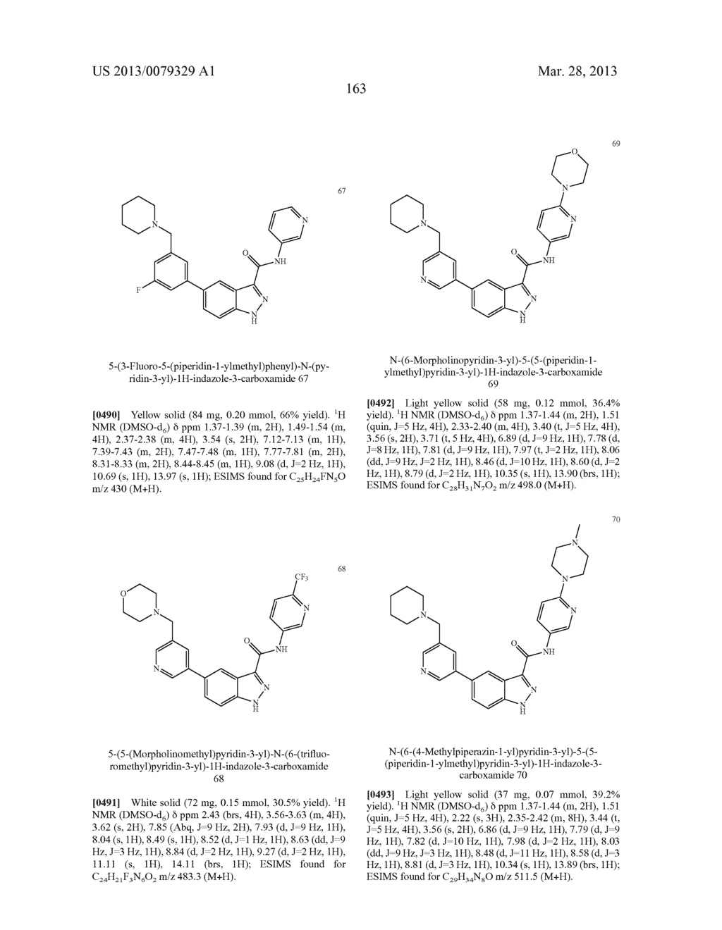 INDAZOLE-3-CARBOXAMIDES AND THEIR USE AS WNT/Beta-CATENIN SIGNALING     PATHWAY INHIBITORS - diagram, schematic, and image 164