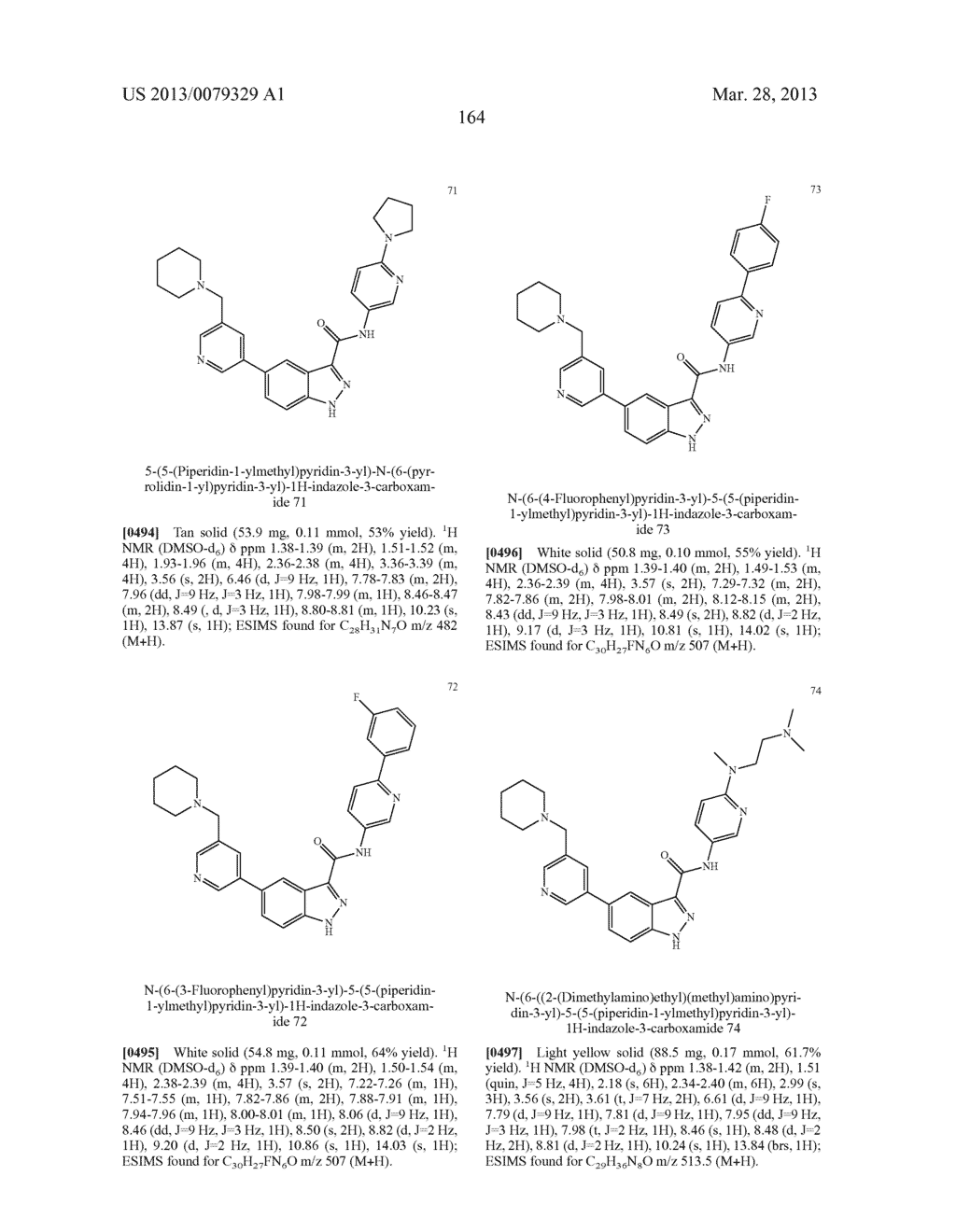INDAZOLE-3-CARBOXAMIDES AND THEIR USE AS WNT/Beta-CATENIN SIGNALING     PATHWAY INHIBITORS - diagram, schematic, and image 165