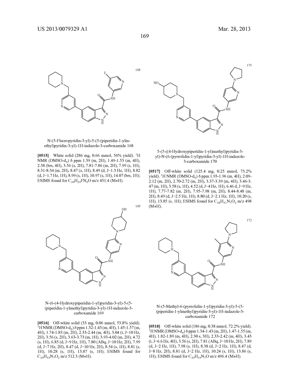 INDAZOLE-3-CARBOXAMIDES AND THEIR USE AS WNT/Beta-CATENIN SIGNALING     PATHWAY INHIBITORS - diagram, schematic, and image 170