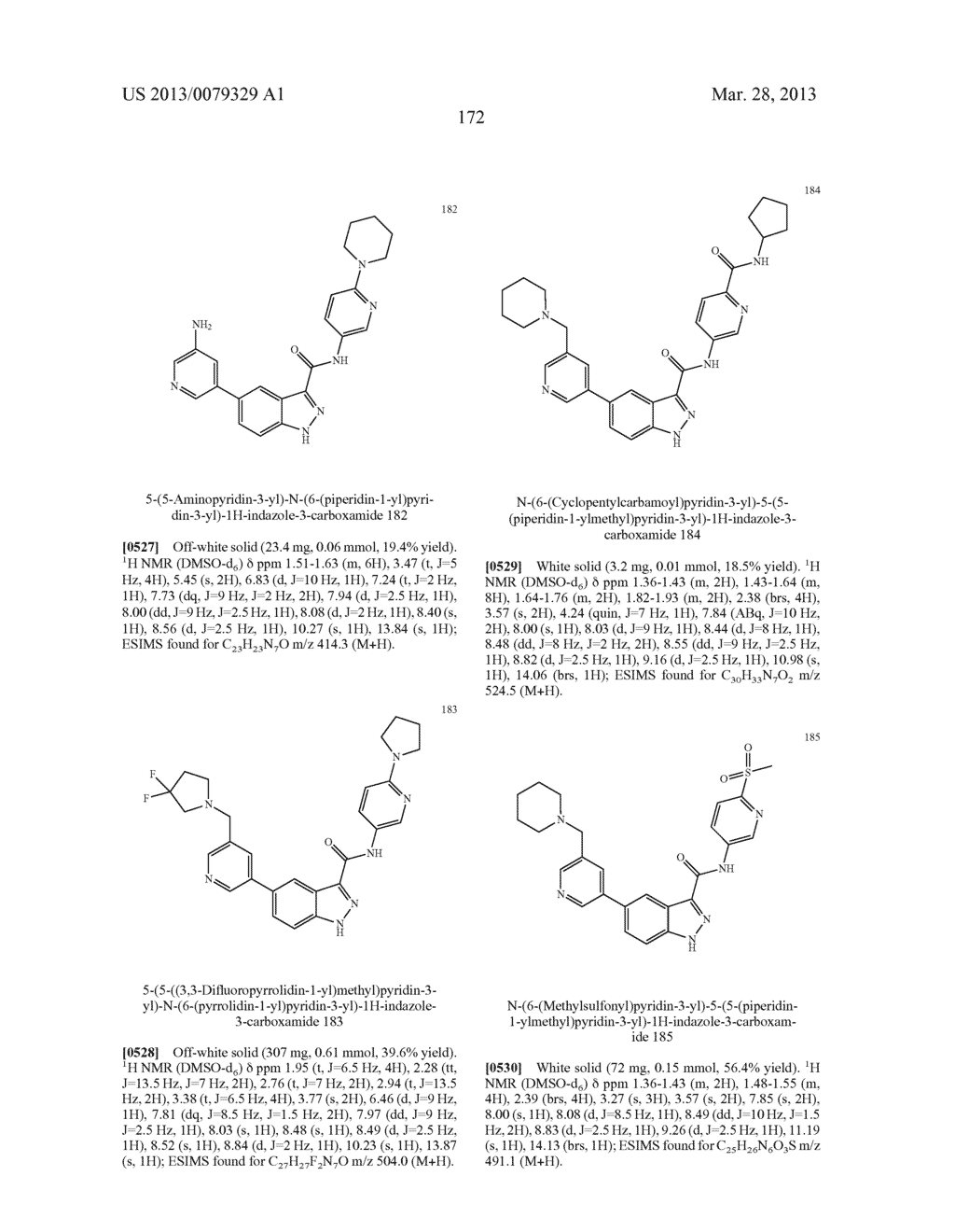 INDAZOLE-3-CARBOXAMIDES AND THEIR USE AS WNT/Beta-CATENIN SIGNALING     PATHWAY INHIBITORS - diagram, schematic, and image 173