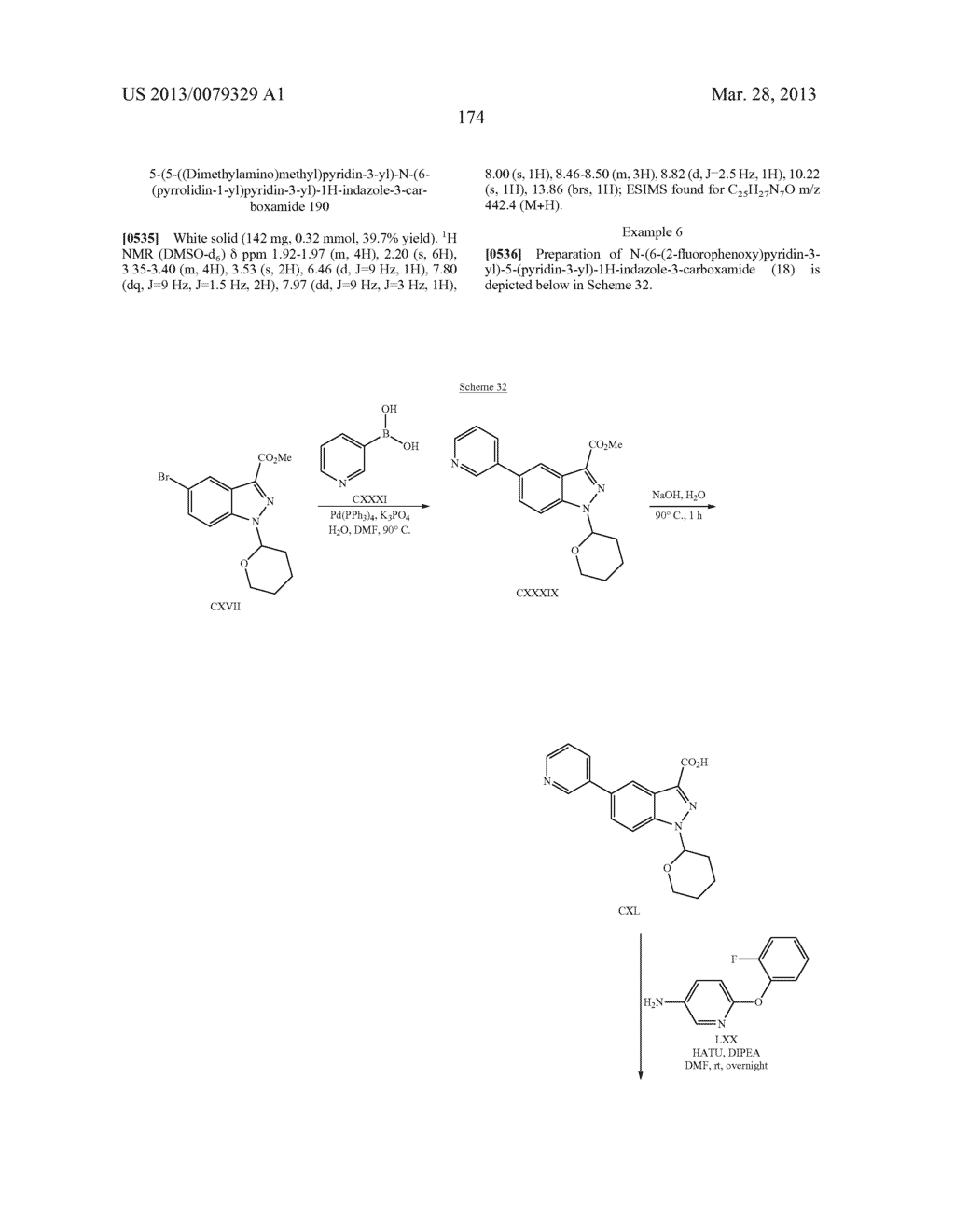 INDAZOLE-3-CARBOXAMIDES AND THEIR USE AS WNT/Beta-CATENIN SIGNALING     PATHWAY INHIBITORS - diagram, schematic, and image 175