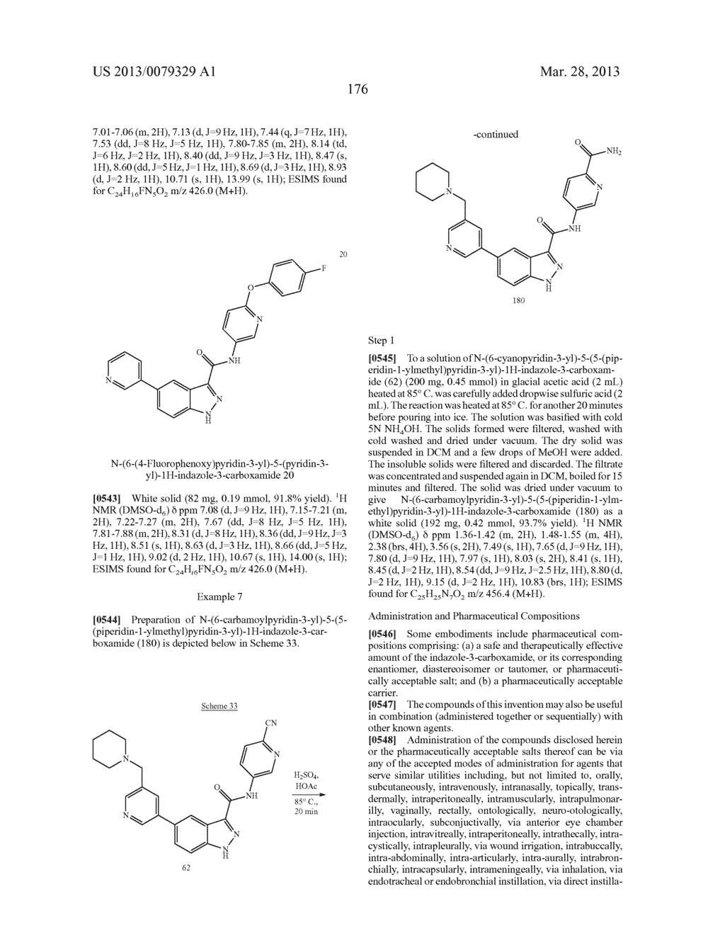 INDAZOLE-3-CARBOXAMIDES AND THEIR USE AS WNT/Beta-CATENIN SIGNALING     PATHWAY INHIBITORS - diagram, schematic, and image 177