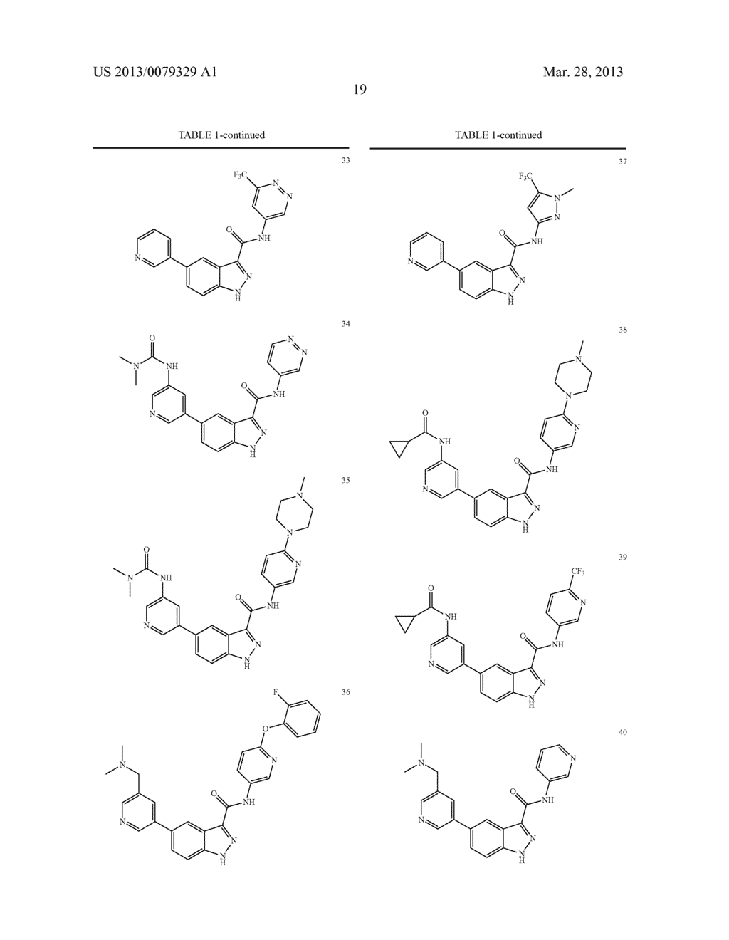 INDAZOLE-3-CARBOXAMIDES AND THEIR USE AS WNT/Beta-CATENIN SIGNALING     PATHWAY INHIBITORS - diagram, schematic, and image 20