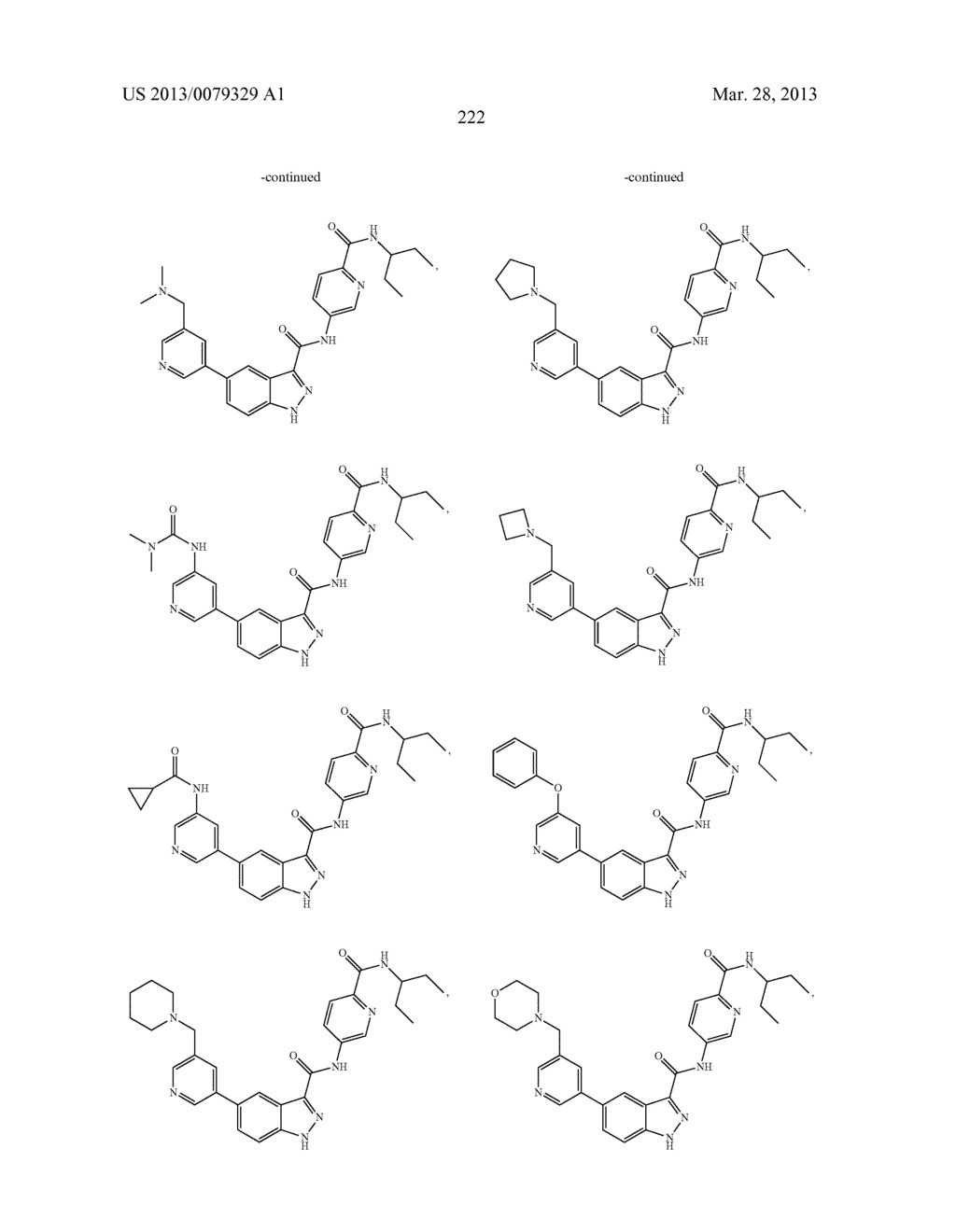 INDAZOLE-3-CARBOXAMIDES AND THEIR USE AS WNT/Beta-CATENIN SIGNALING     PATHWAY INHIBITORS - diagram, schematic, and image 223