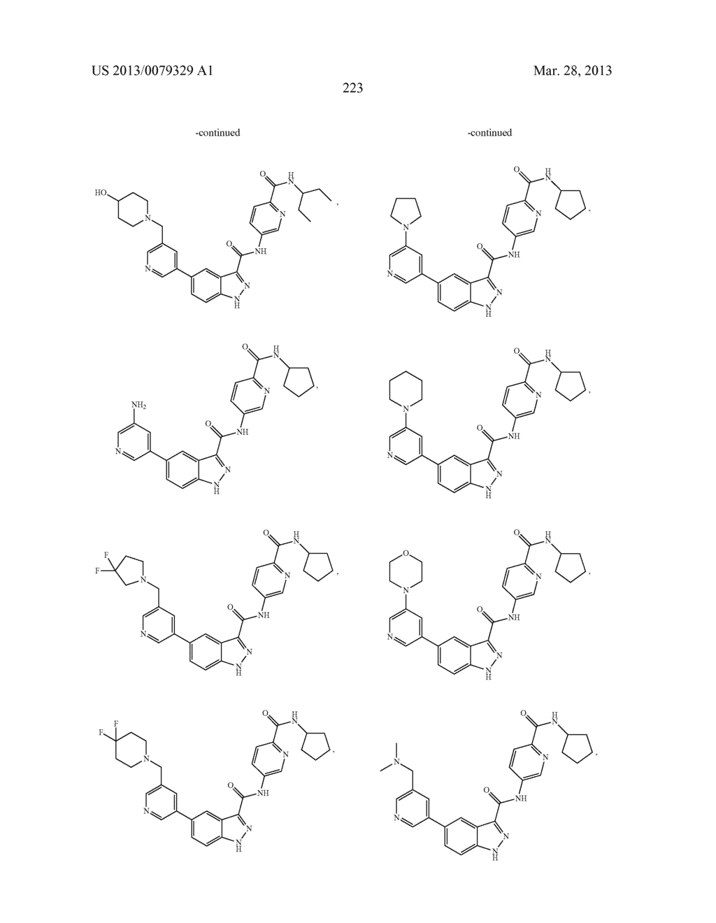 INDAZOLE-3-CARBOXAMIDES AND THEIR USE AS WNT/Beta-CATENIN SIGNALING     PATHWAY INHIBITORS - diagram, schematic, and image 224