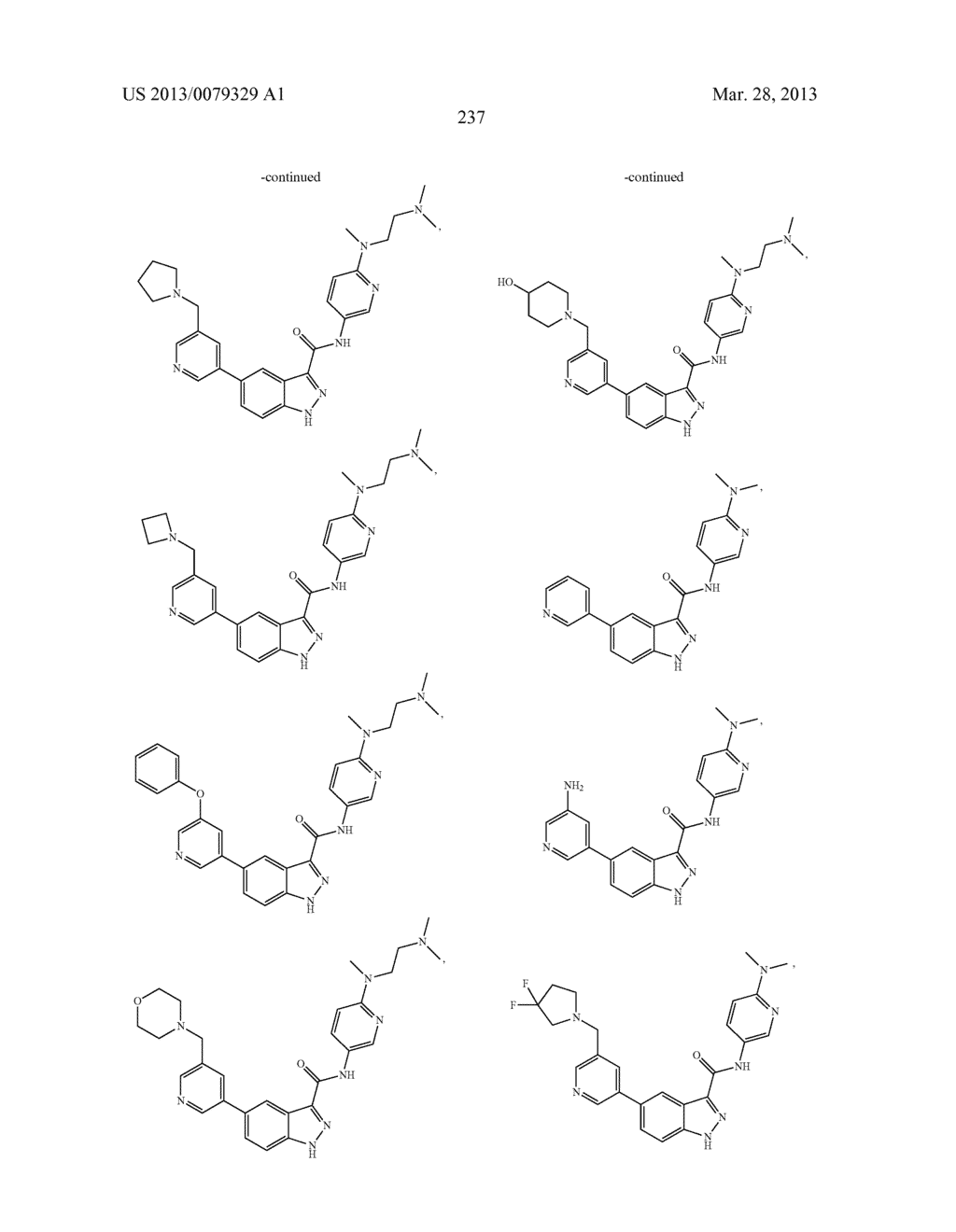 INDAZOLE-3-CARBOXAMIDES AND THEIR USE AS WNT/Beta-CATENIN SIGNALING     PATHWAY INHIBITORS - diagram, schematic, and image 238