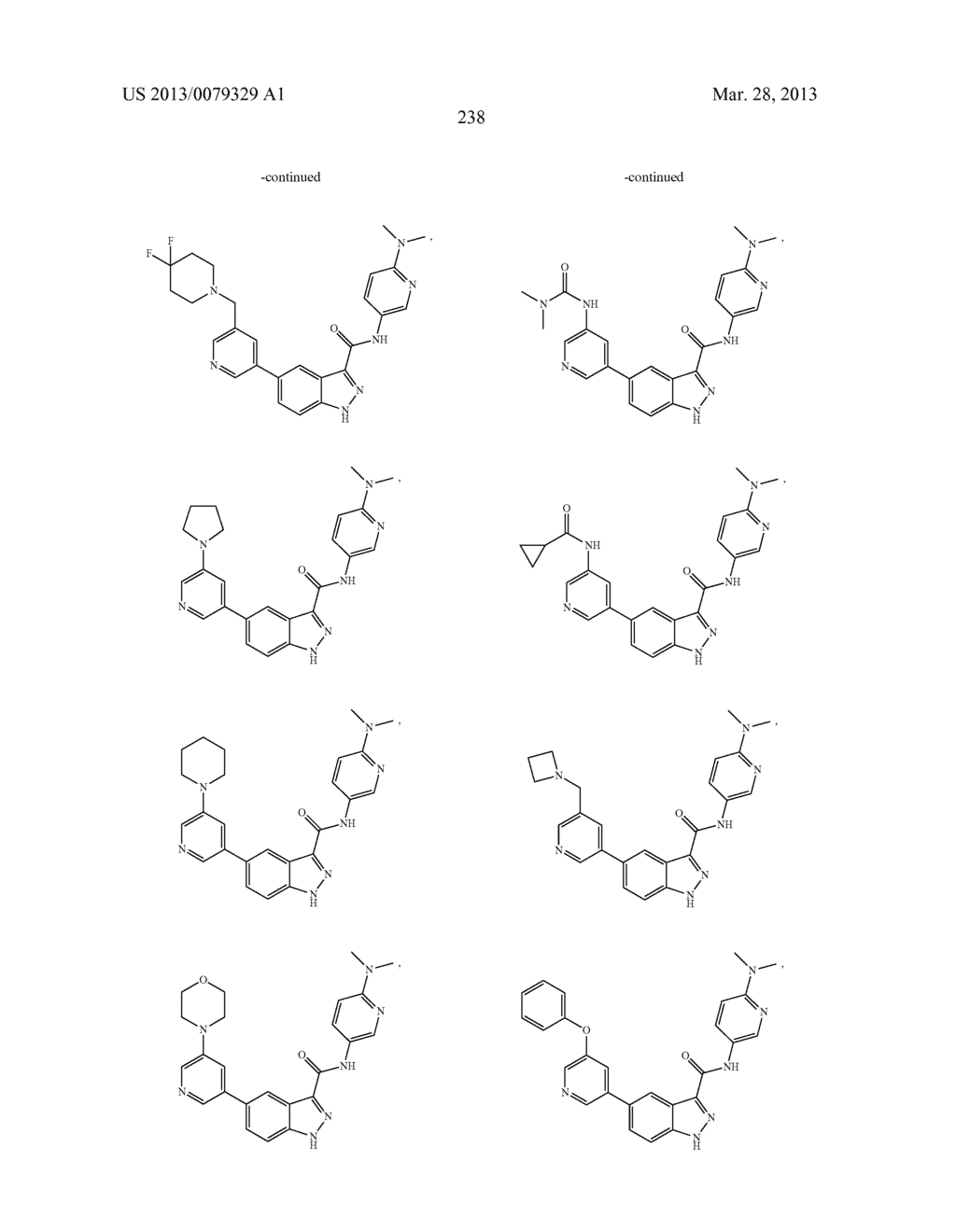 INDAZOLE-3-CARBOXAMIDES AND THEIR USE AS WNT/Beta-CATENIN SIGNALING     PATHWAY INHIBITORS - diagram, schematic, and image 239