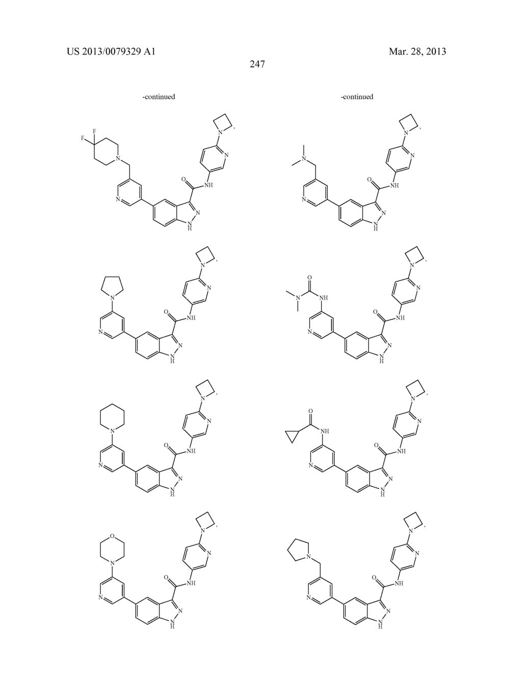 INDAZOLE-3-CARBOXAMIDES AND THEIR USE AS WNT/Beta-CATENIN SIGNALING     PATHWAY INHIBITORS - diagram, schematic, and image 248