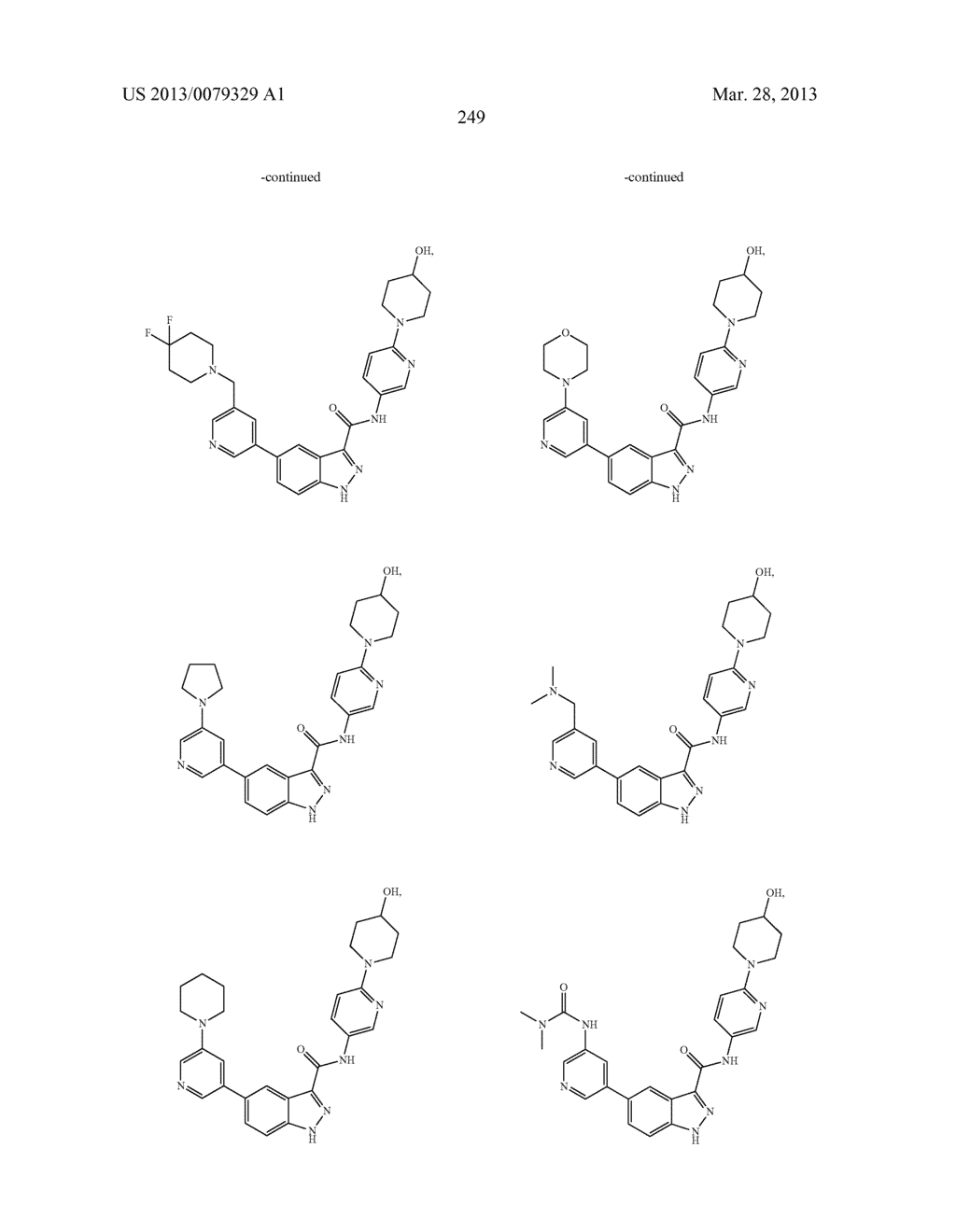 INDAZOLE-3-CARBOXAMIDES AND THEIR USE AS WNT/Beta-CATENIN SIGNALING     PATHWAY INHIBITORS - diagram, schematic, and image 250