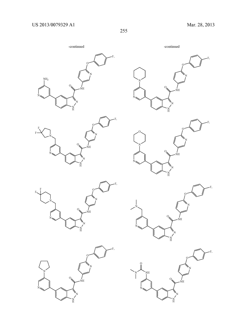 INDAZOLE-3-CARBOXAMIDES AND THEIR USE AS WNT/Beta-CATENIN SIGNALING     PATHWAY INHIBITORS - diagram, schematic, and image 256
