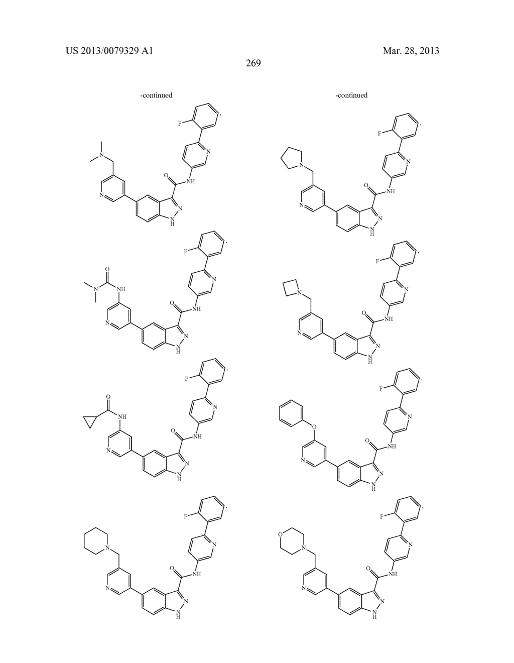 INDAZOLE-3-CARBOXAMIDES AND THEIR USE AS WNT/Beta-CATENIN SIGNALING     PATHWAY INHIBITORS - diagram, schematic, and image 270