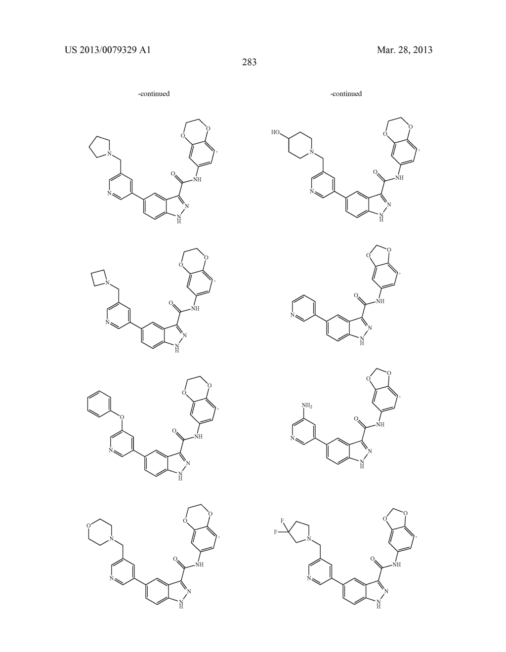 INDAZOLE-3-CARBOXAMIDES AND THEIR USE AS WNT/Beta-CATENIN SIGNALING     PATHWAY INHIBITORS - diagram, schematic, and image 284