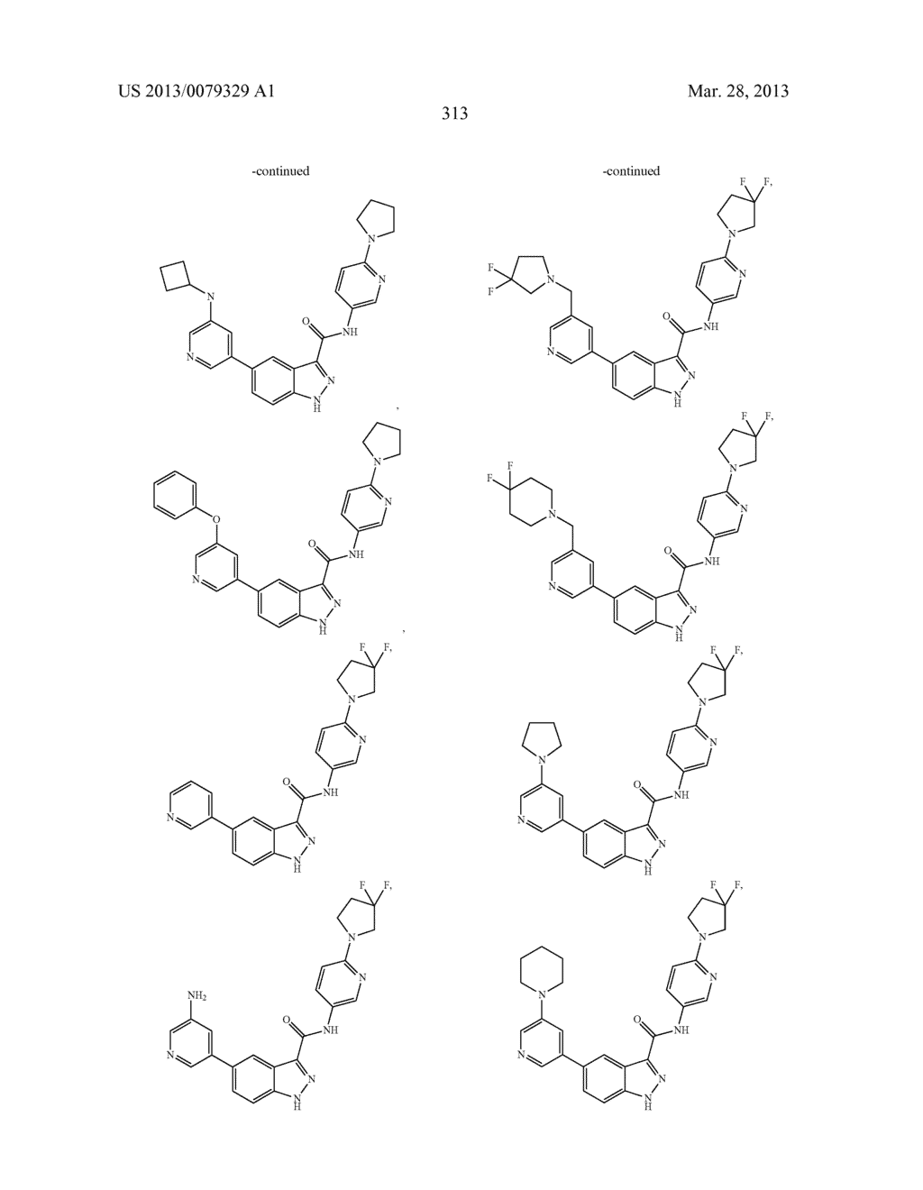 INDAZOLE-3-CARBOXAMIDES AND THEIR USE AS WNT/Beta-CATENIN SIGNALING     PATHWAY INHIBITORS - diagram, schematic, and image 314