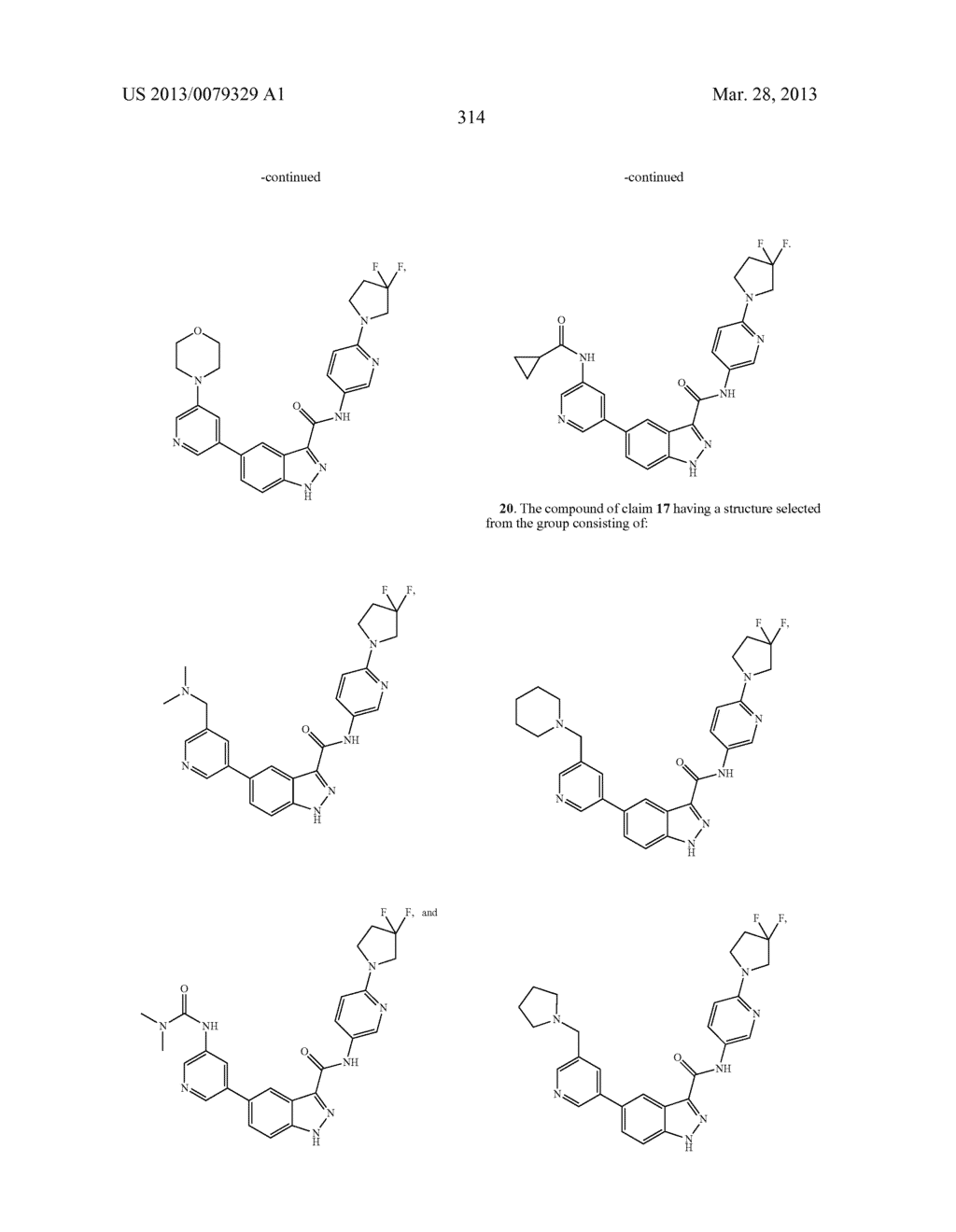 INDAZOLE-3-CARBOXAMIDES AND THEIR USE AS WNT/Beta-CATENIN SIGNALING     PATHWAY INHIBITORS - diagram, schematic, and image 315