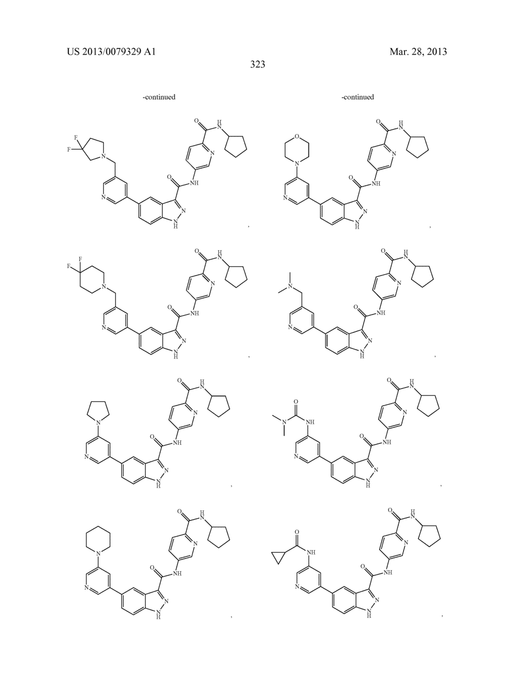 INDAZOLE-3-CARBOXAMIDES AND THEIR USE AS WNT/Beta-CATENIN SIGNALING     PATHWAY INHIBITORS - diagram, schematic, and image 324