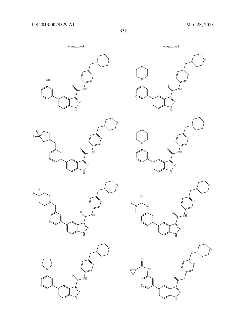 INDAZOLE-3-CARBOXAMIDES AND THEIR USE AS WNT/Beta-CATENIN SIGNALING     PATHWAY INHIBITORS - diagram, schematic, and image 332