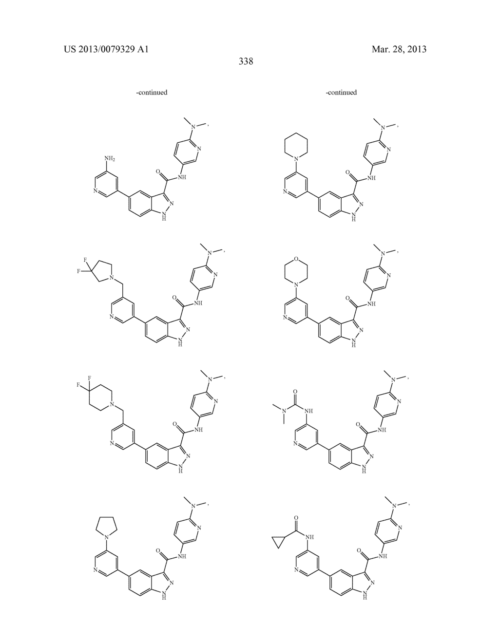 INDAZOLE-3-CARBOXAMIDES AND THEIR USE AS WNT/Beta-CATENIN SIGNALING     PATHWAY INHIBITORS - diagram, schematic, and image 339