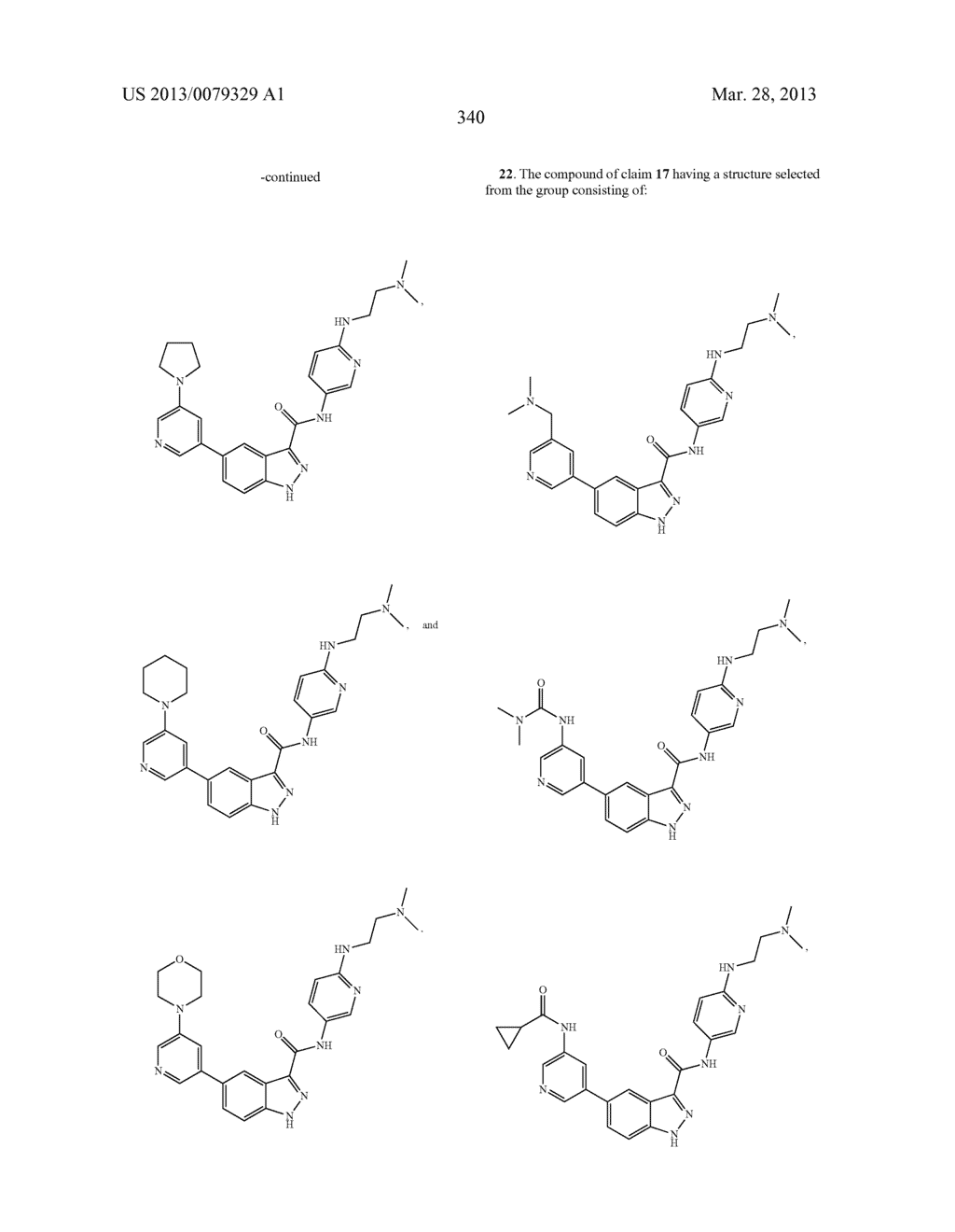 INDAZOLE-3-CARBOXAMIDES AND THEIR USE AS WNT/Beta-CATENIN SIGNALING     PATHWAY INHIBITORS - diagram, schematic, and image 341
