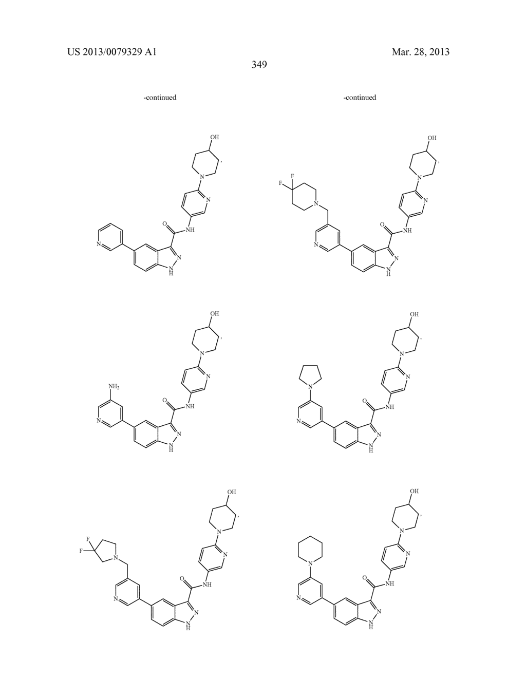 INDAZOLE-3-CARBOXAMIDES AND THEIR USE AS WNT/Beta-CATENIN SIGNALING     PATHWAY INHIBITORS - diagram, schematic, and image 350