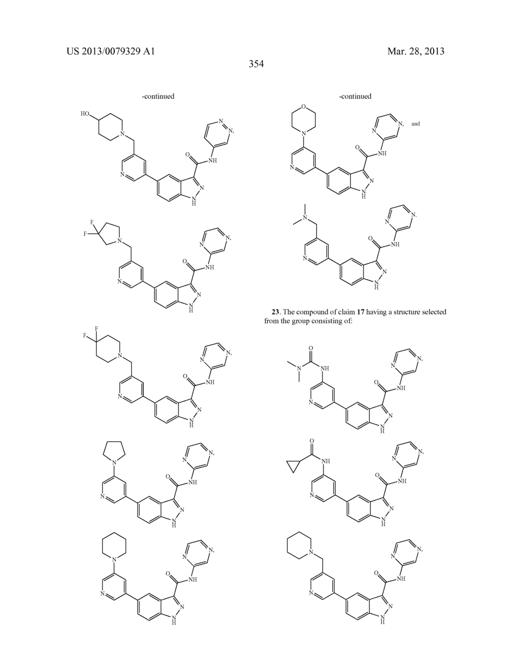 INDAZOLE-3-CARBOXAMIDES AND THEIR USE AS WNT/Beta-CATENIN SIGNALING     PATHWAY INHIBITORS - diagram, schematic, and image 355