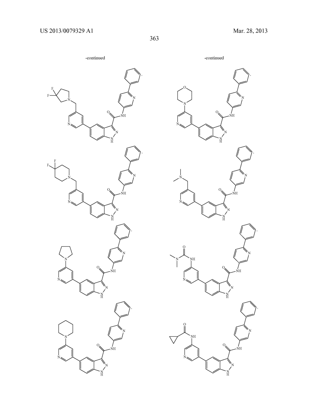 INDAZOLE-3-CARBOXAMIDES AND THEIR USE AS WNT/Beta-CATENIN SIGNALING     PATHWAY INHIBITORS - diagram, schematic, and image 364